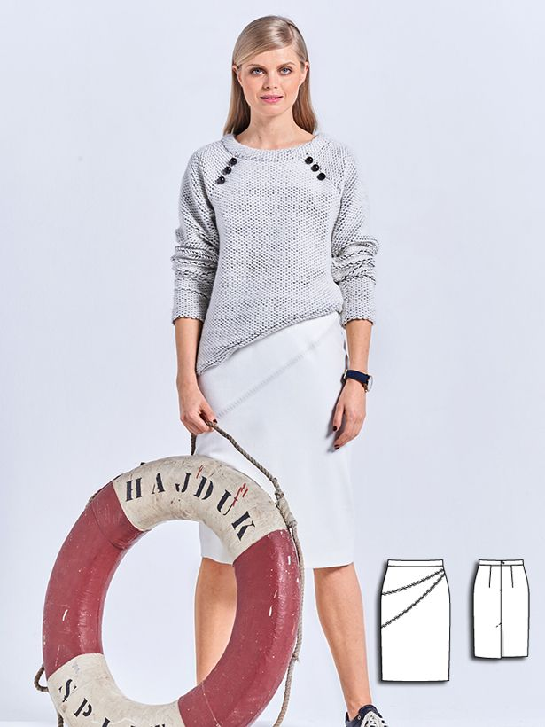 Pencil Skirt 10/2016 #106 | Pinterest | Stricken und häkeln ...