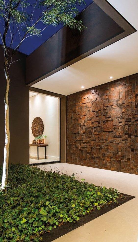 Dise os de revestimiento para paredes interiores y for Disenos de exteriores para casas pequenas