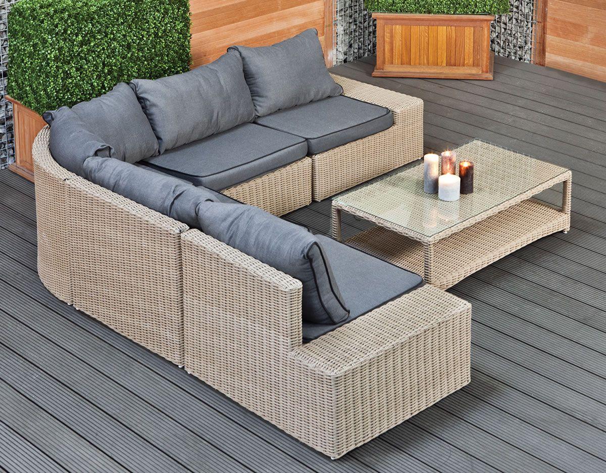 Corner Outdoor Sofa Set Modena Garden