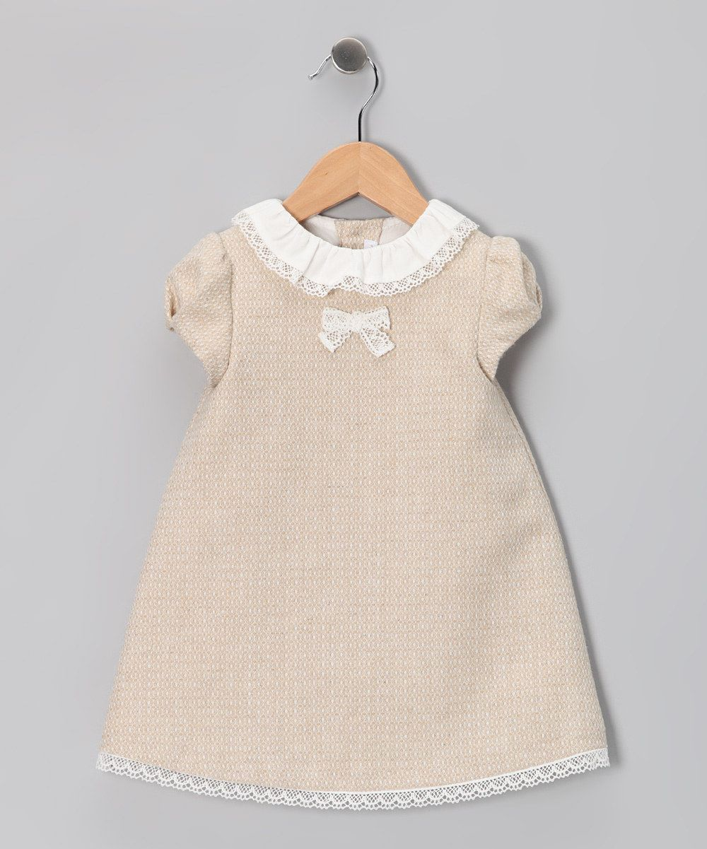 Fina Ejerique Beige Tweed Dress Infant For Our Little
