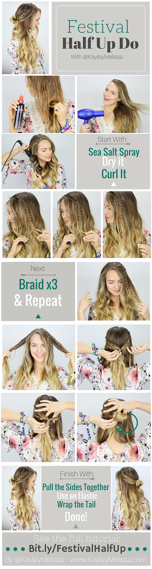 Music Festival Inspired Braided Half Updo This Is Perfect For