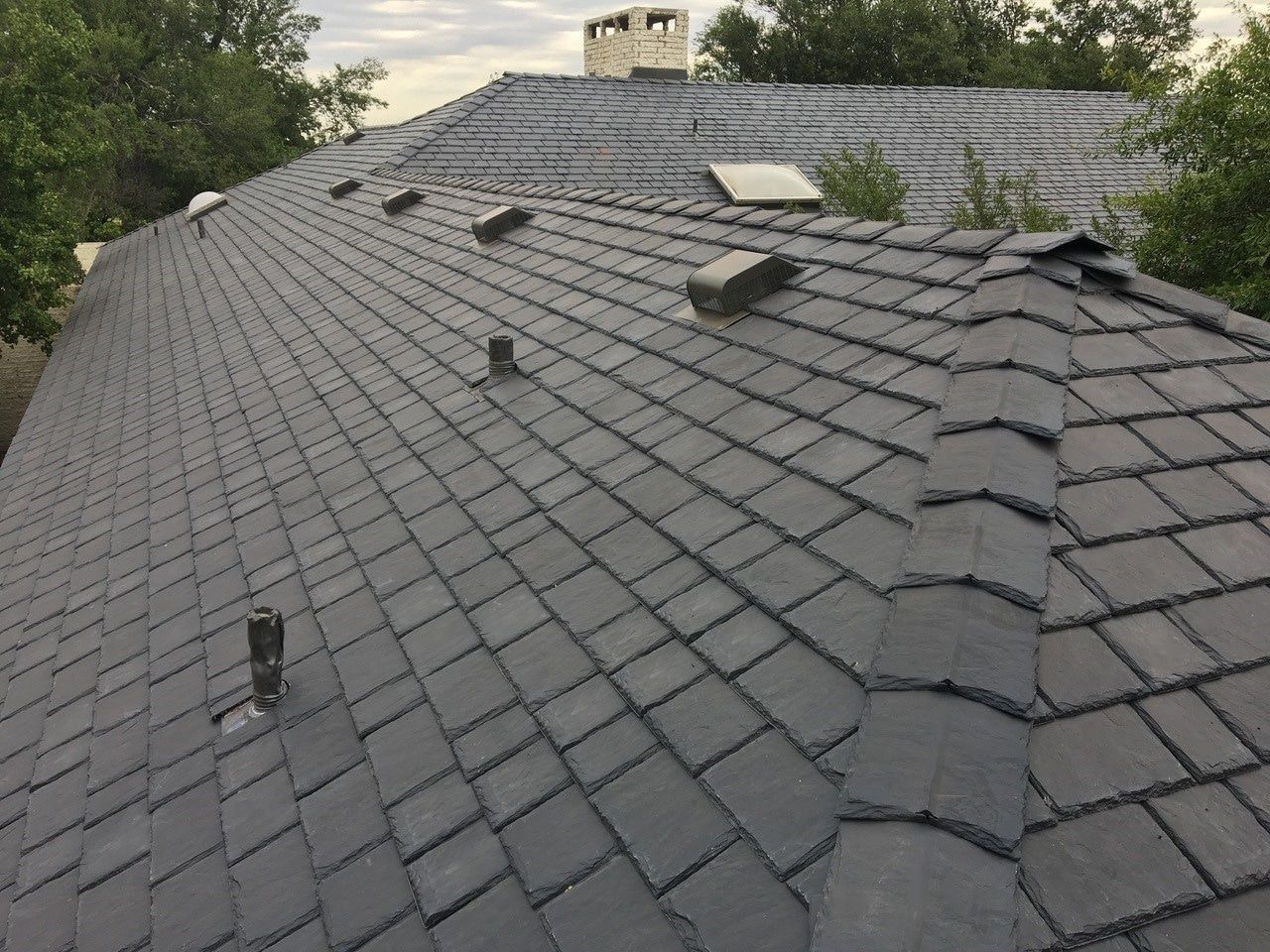 Best Multi Width Composite Slate Roof Tile Synthetic Slate 400 x 300