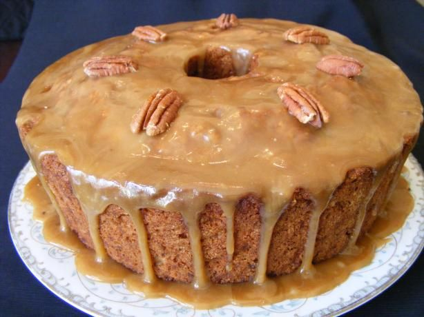 Apple Dapple Cake from Food.com: An apple lover's cake for sure!! Very moist with a carmel-like frosting. Great for serving guests and for family celebrations. This recipe has been used frequently by my relatives.