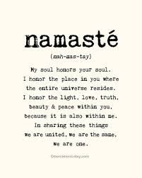 Large Namaste Poster - 16x20 inches on A2. Inspiring quote typography art poster…