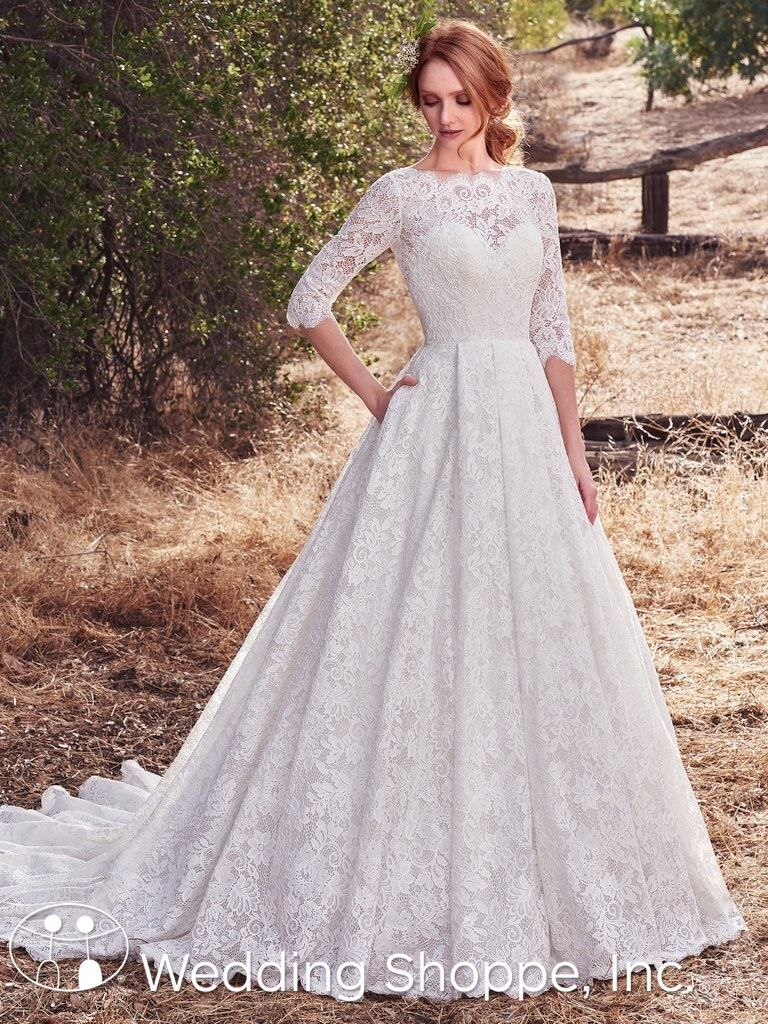 Maggie Sottero Cordelia Ball Gown Wedding Dress lace wedding dress ...
