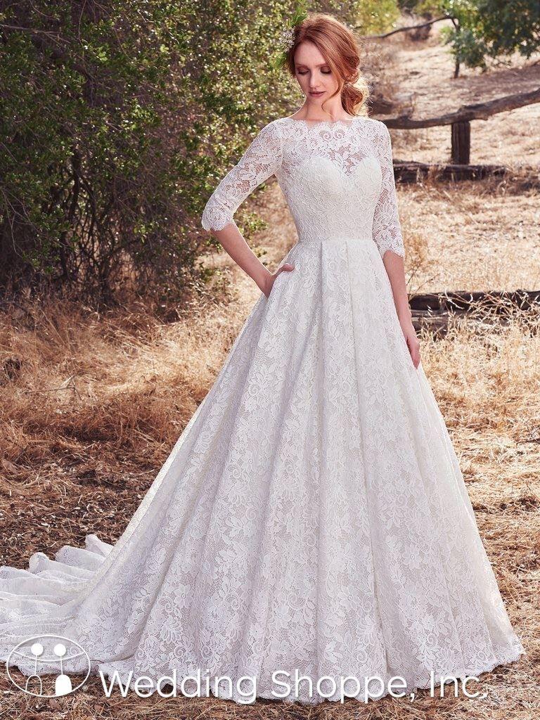 Boat neck lace wedding dress october 2018 Short Wedding Gowns  Wedding Gowns Boho  Pinterest  Modest