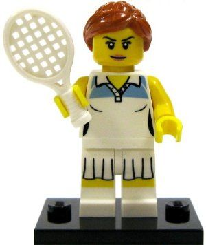 Lego Minifigure Collection Series 3 Loose Mini Figure Female Tennis Player By Lego 6 17 Collectible Lego Minifigure Come Lego Minifigures Mini Figures Lego