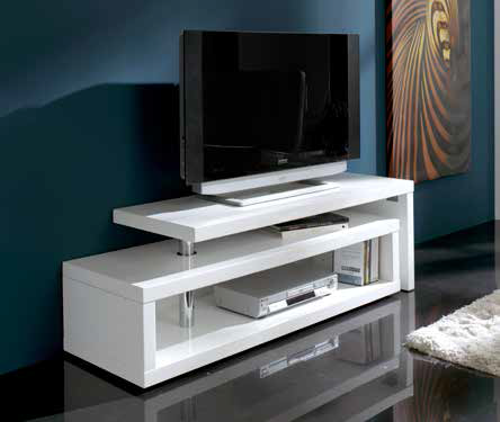 Mueble de television blanco alaska soportes de Muebles de tele