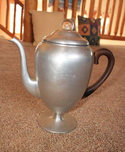 Vintage Mirro Stovetop Pedestal Coffee Pot Percolator 5962M 9 Cup Clean Complete