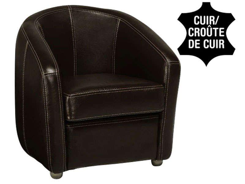 Conforama Fauteuil cuir NOVI coloris noir - 600 \u20ac Shopping