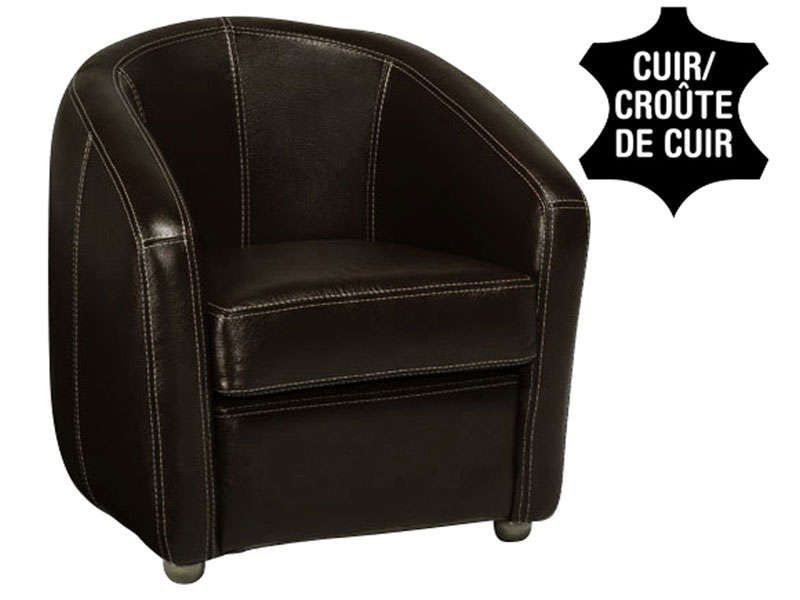 Conforama Fauteuil cuir NOVI coloris noir - 600 u20ac Shopping - conforama salle a manger