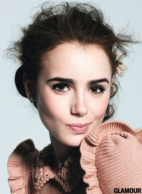 Lily Collins' Glamour September 2012 Feature