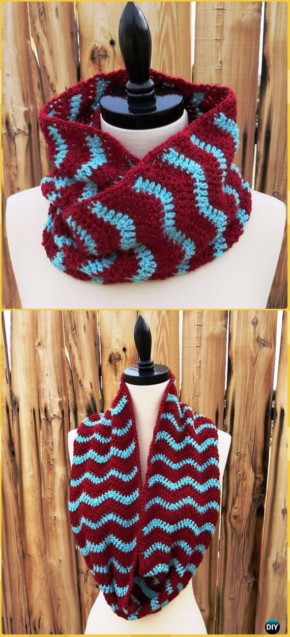 Crochet Infinity Scarf Cowl Neck Warmer Free Patterns | Tejido ...