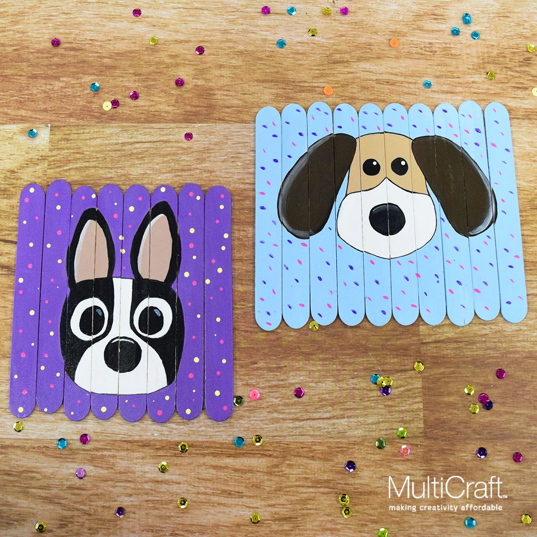 Celebrate National Dog Day by making a Puppy Puzzle. Great