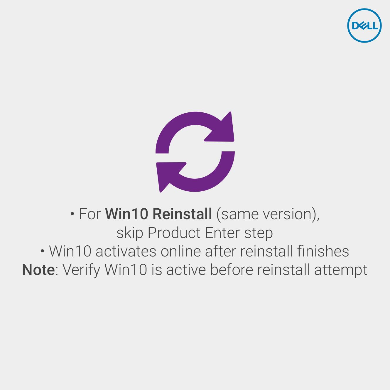 Windows10 activation - Digital License Method | Dell Cares | Logos