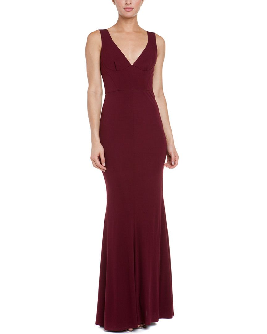 ABS by Allen Schwartz Raisin Jersey Deep V Gown is on Rue. Shop it ...