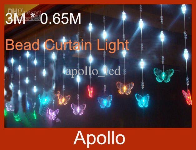 LED Bead Curtain Light 3m * 065m 60 Leds Butterfly Door Curtain