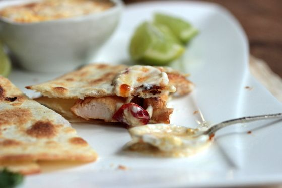Red Chile Jam + Tequila Chicken Quesadilla #SundaySupper / Vintage Kitchen