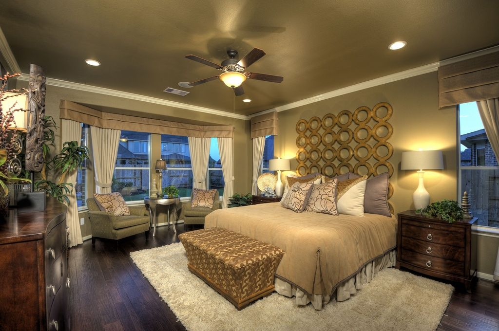 Traditional Master Bedroom with Jonathan adler athena