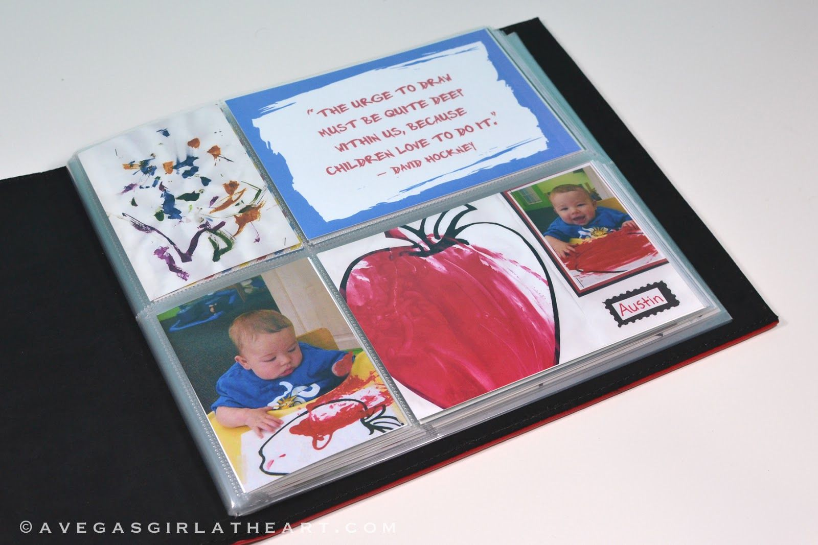 A Vegas Girl at Heart: Children's Art Scrapbook/Project Life Mini Album