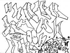 Graffiti Letter Study H Abjad Grafiti Grafiti