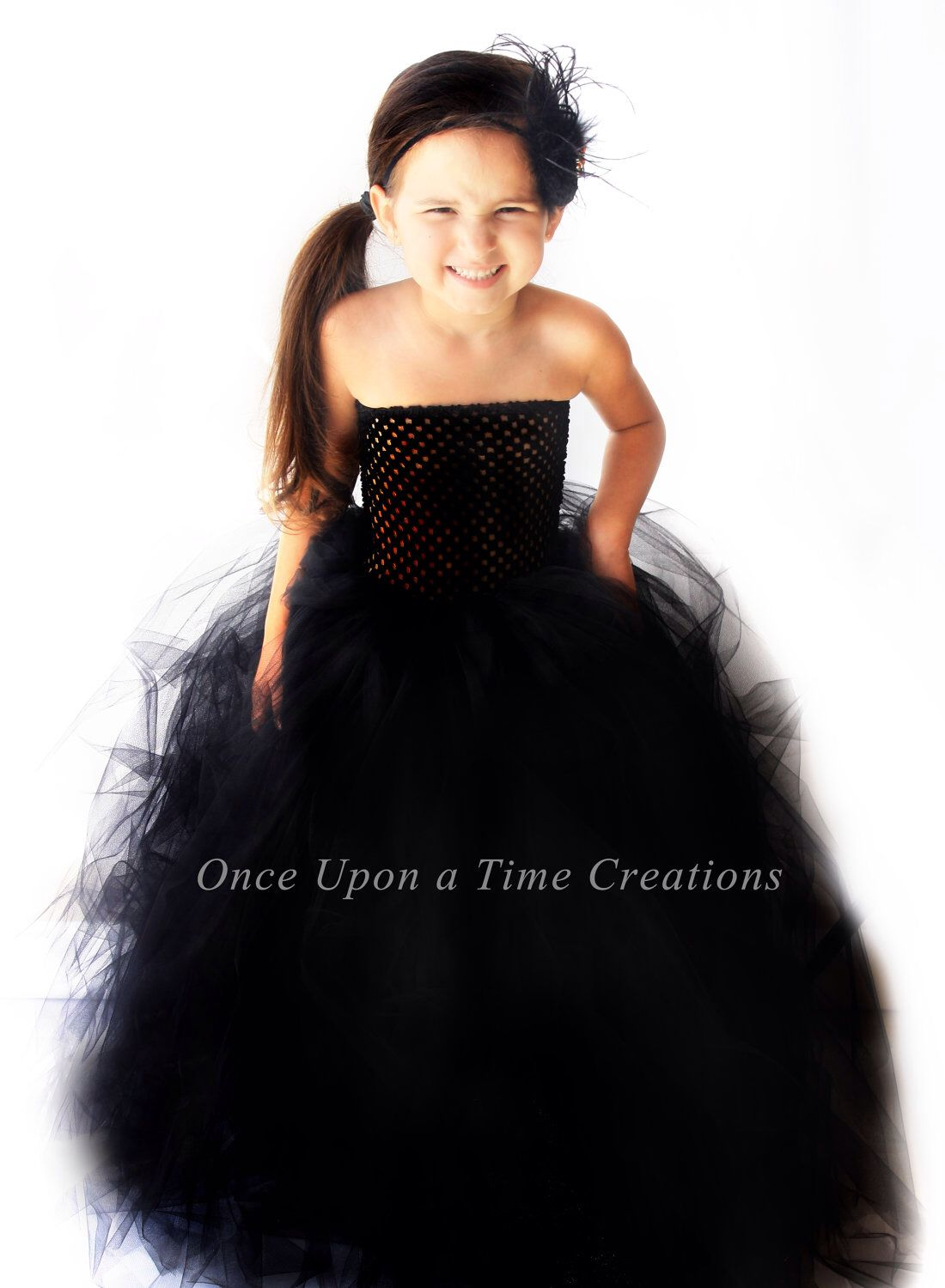 Stunning Black Tutu Holiday Dress - Flower Girl - Pageant Gown ...