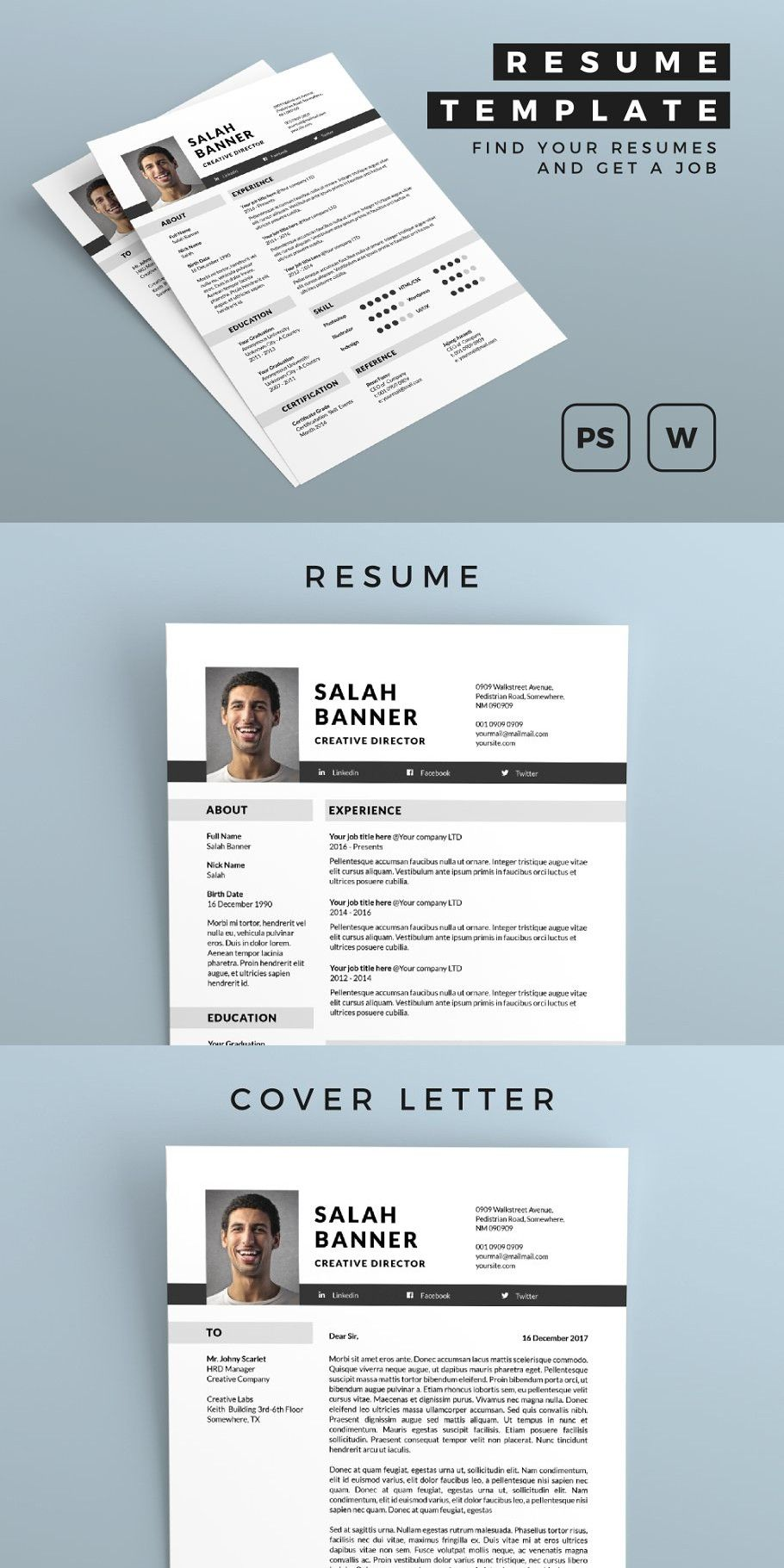 Resume in 2020 Simple resume template, How to make