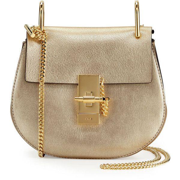 86b60283 Chloe Drew Mini Metallic Leather Crossbody Bag ($1,790) ❤ liked on ...
