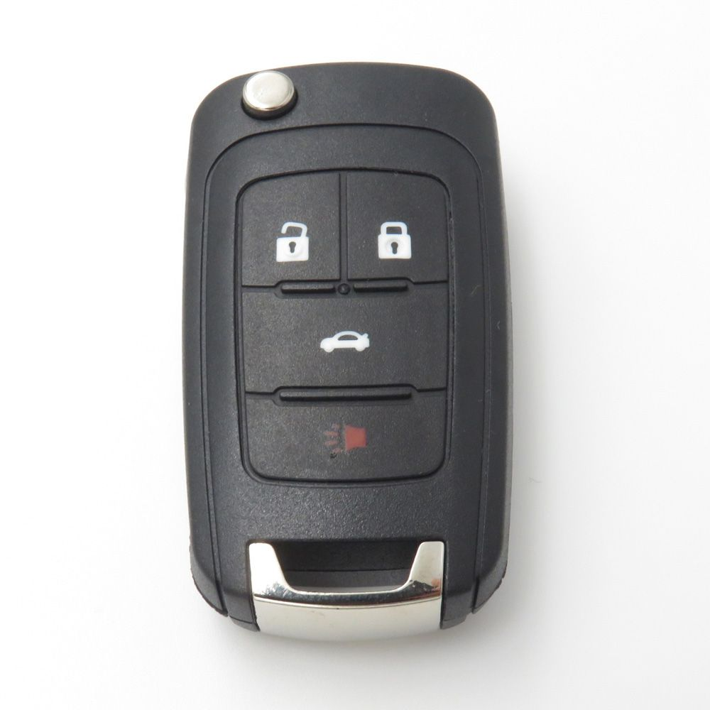 4buttons Flip Folding Key Blank Case Fob Shell For Chevrolet