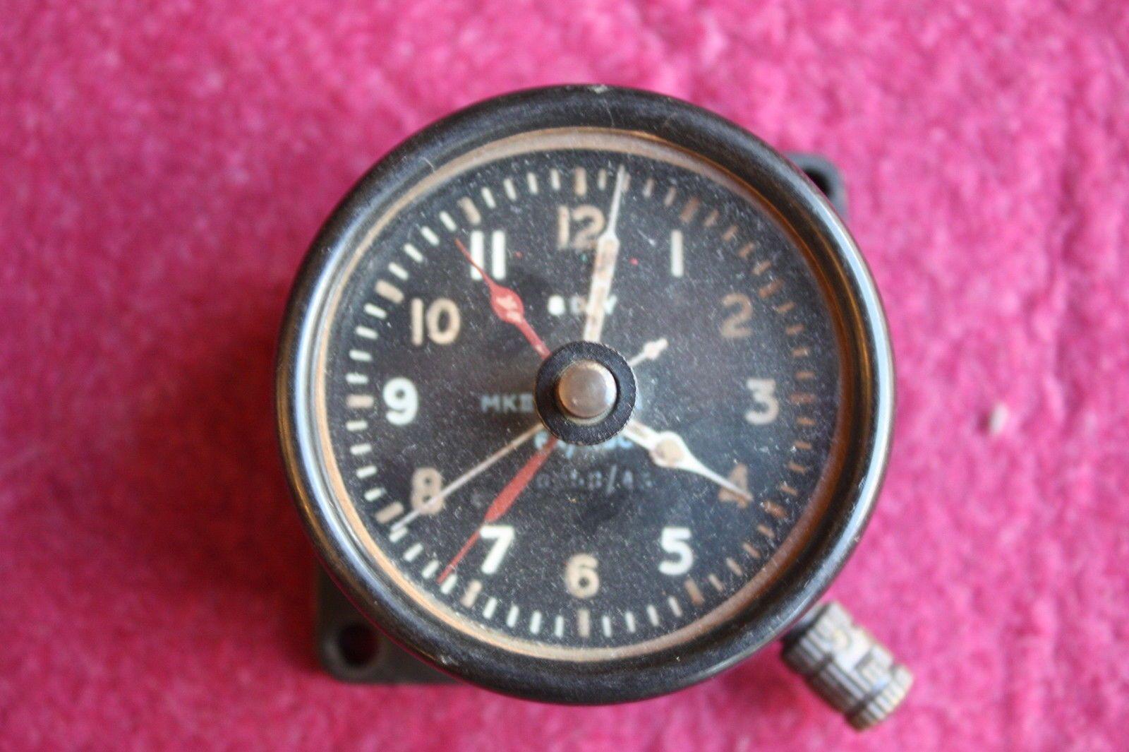 RAF JAEGER AIRCRAFT COCKPIT DASHBOARD CLOCK 1943 WWII