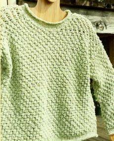 4208e6f59d10 Free Knitting Pattern - Women s Sweaters  Textured Cotton Chenille  Sweatshirt