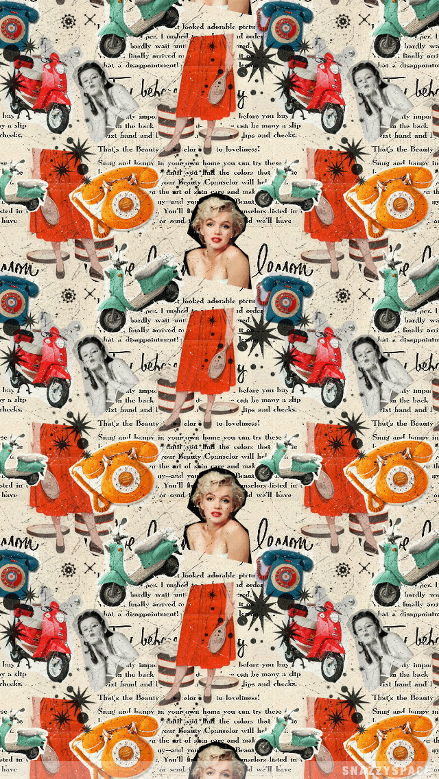 000000 Vintage Scooter Girl Png 640 1136 Cute Tumblr Wallpaper