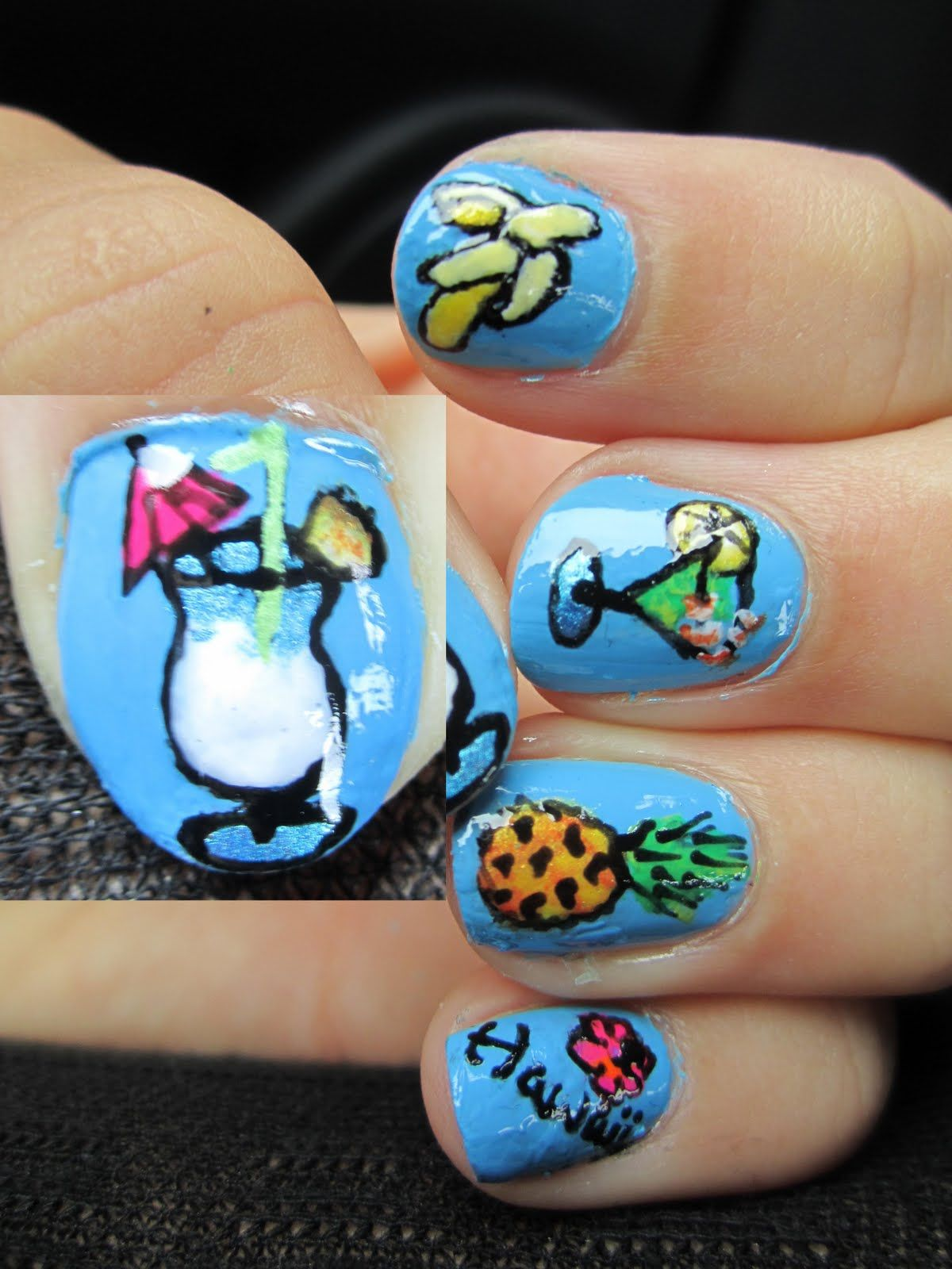 nails for ben\'s party? | Luau Birthday party | Pinterest