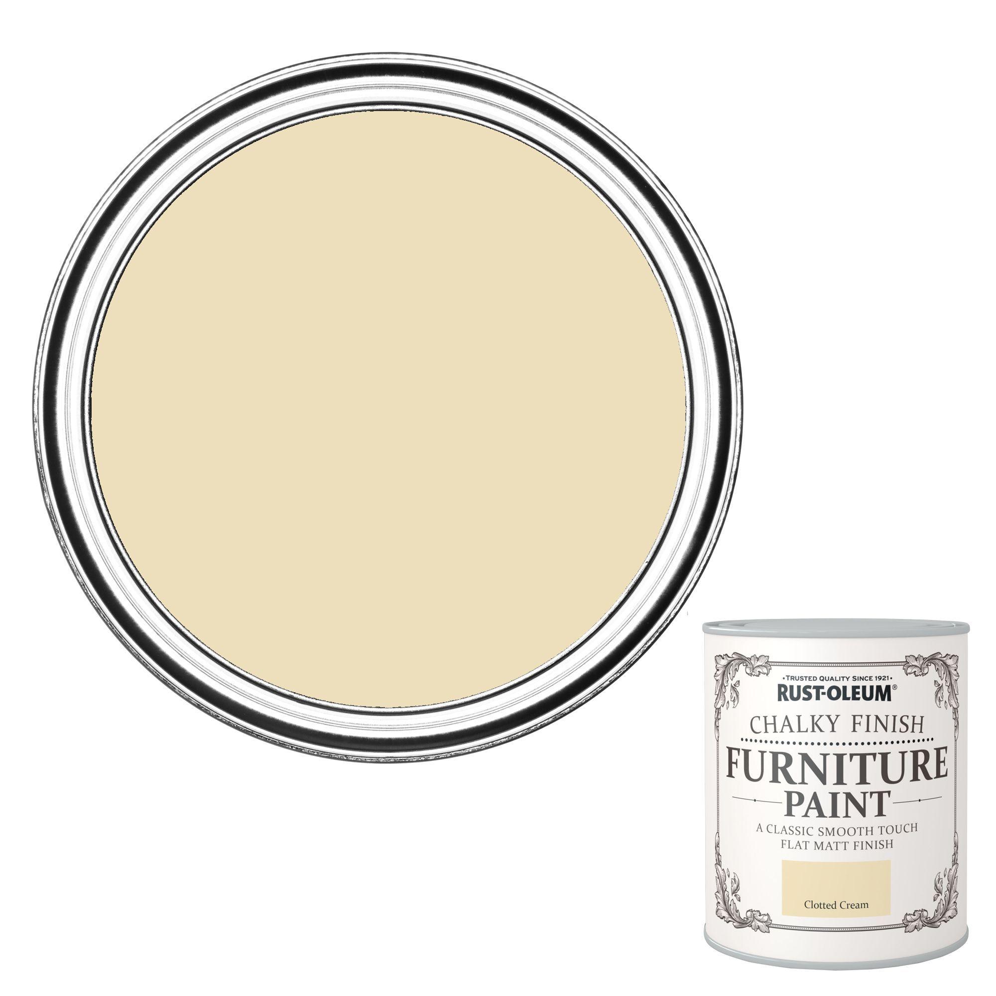 Rust Oleum Chalky Finish Clotted Cream Furniture Paint 2 5l Departments Diy At B Q Rustoleum Painted Furniture Cream Furniture