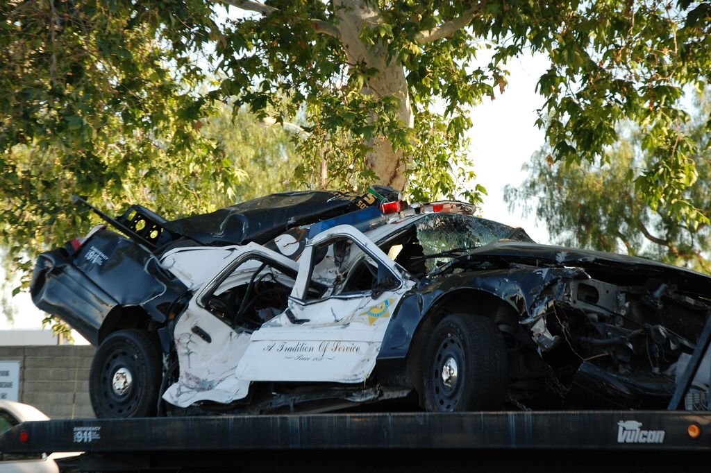 LOS ANGELES COUNTY SHERIFF'S DEPARTMENT (LASD) WRECKED FORD