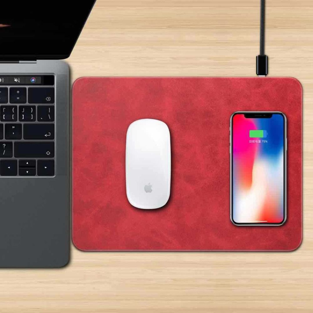 Qi Wireless Charger Mouse Pad Mat Chargeur Usb Charging For Iphone X 8 8plus Samsung Galaxy S8 Plus S7 S9 Edge Chargeur Iphone Wireless Charger Iphone Wireless