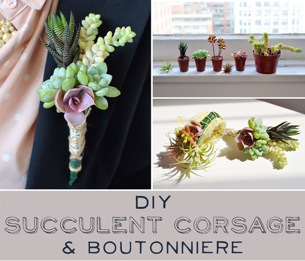 How To Make Your Own Succulentcorsage