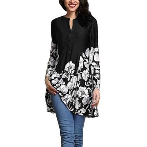 602858fddc6 Plus Size 5XL Tops For Womens Tops and Blouses 2018 Vintage Floral Print  Long Sleeve Shirts Tunic Ladies Top Womens Clothing