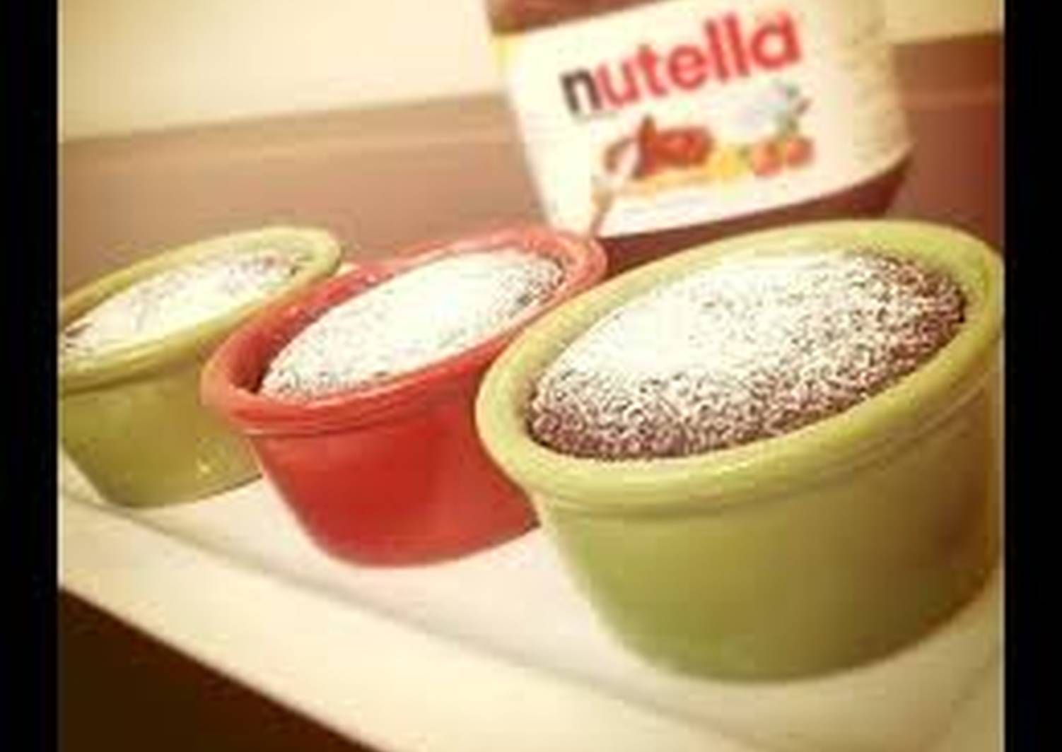 سوفليه النوتيلا بالصور من Rehab Recipe Arabic Food Food Nutella