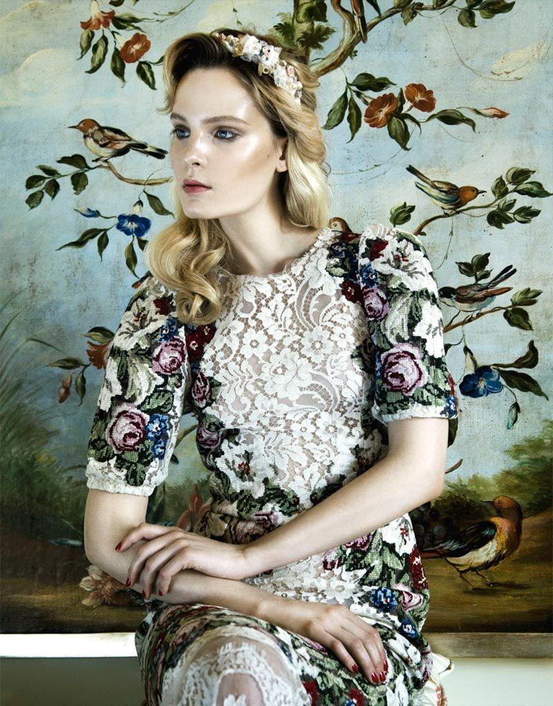ELLE Ucrain – October 2012  model: Charlotte Tomaszewska  photographer: Nikolay Biryukov