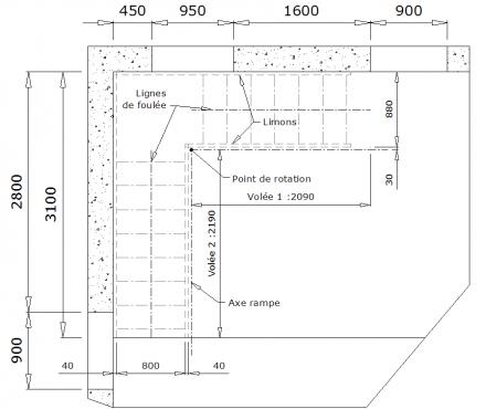 calculer un escalier quart tournant pinterest escalier quart. Black Bedroom Furniture Sets. Home Design Ideas