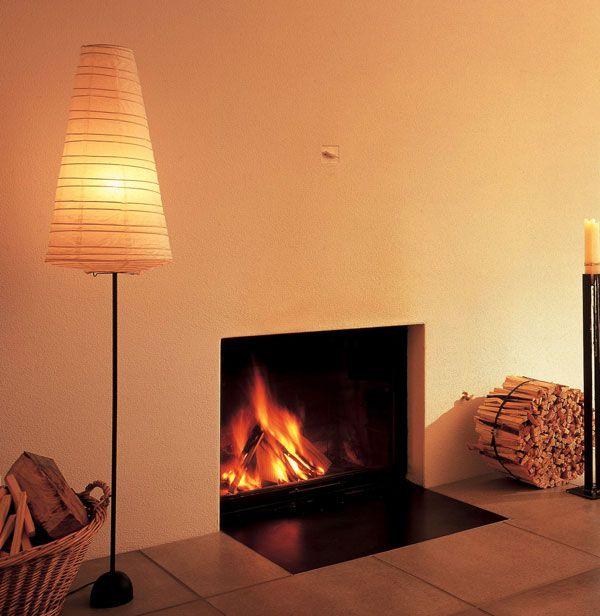 chemin e encastr e avec tapis de sol en m tal noir foyer. Black Bedroom Furniture Sets. Home Design Ideas