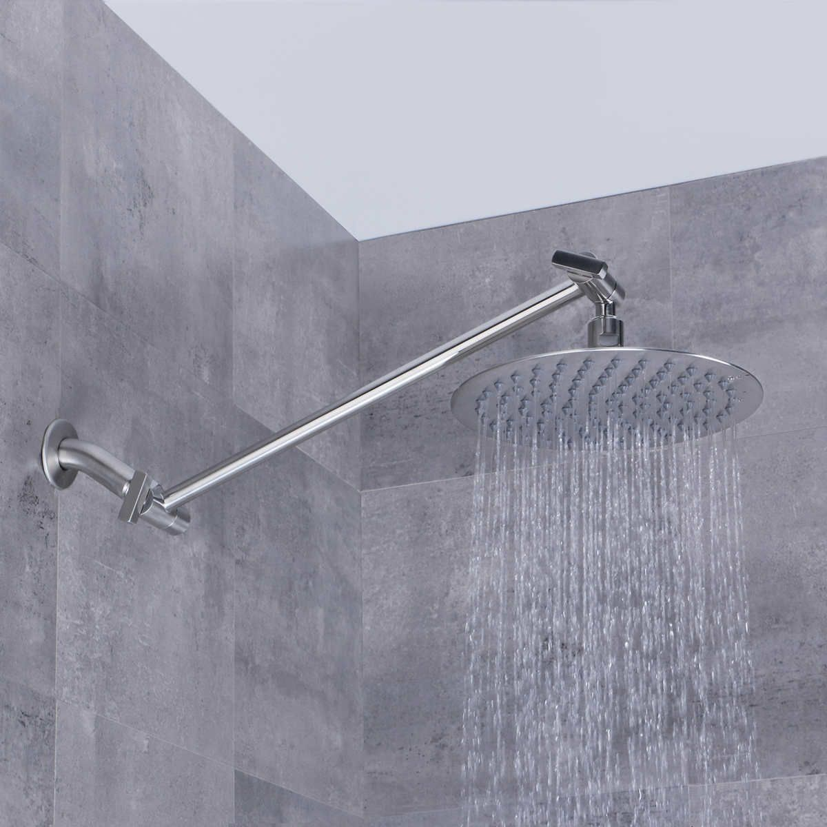 Afa Stainless 8 Rain Shower Head With Extension Arm Rain Shower Head Shower Head Extension Adjustable Shower Head