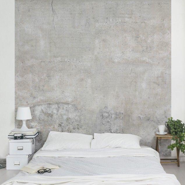 Traumhafte Tapeten Für Schlafzimmer | Beton Tapete Vliestapete Shabby Betonoptik Tapete Fototapete