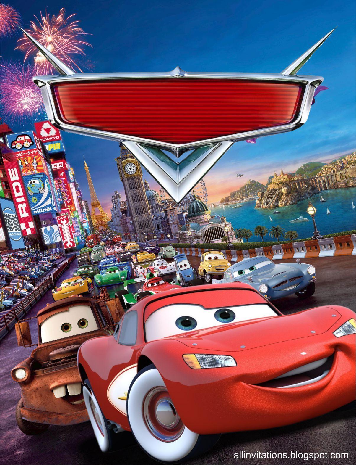 Plantilla de Invitacion del Rayo McQueen invitaciones Pinterest Cars, Fiestas and McQueen