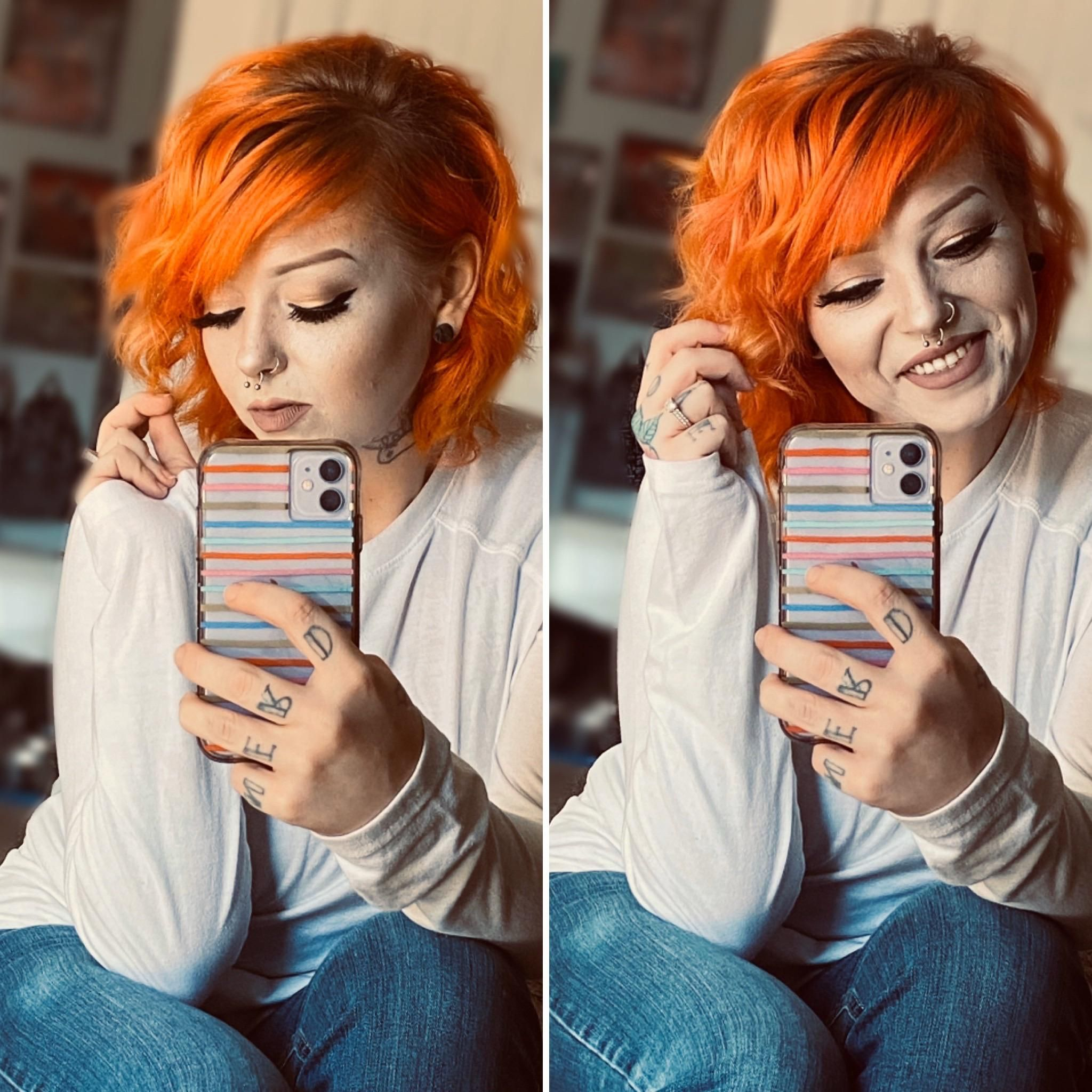 Orange Hair Beauty Skin Deals Me Fashion Love Cute Style Women Makeup In 2020 Celebrity Hair Colors Celebrity Hairstyles Hair