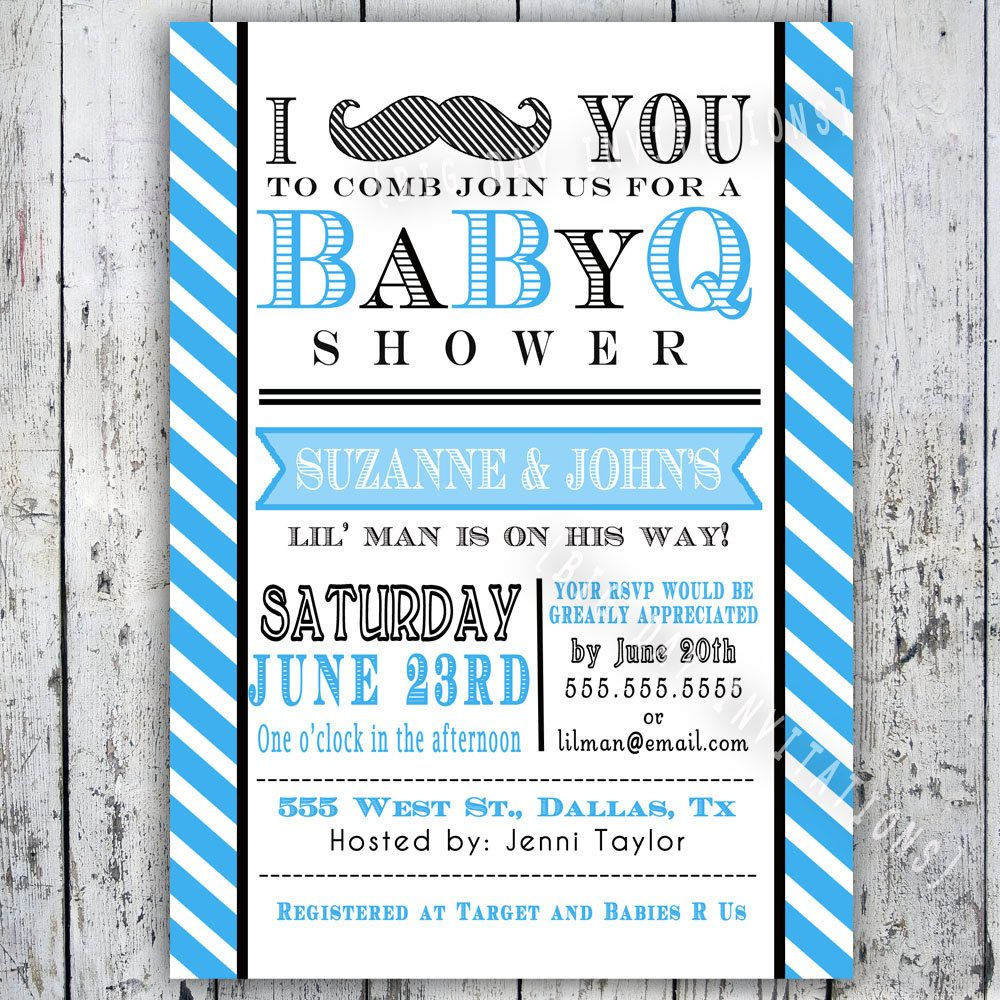 Little Man Mustache Baby Shower Insert Card for Registry or Book ...