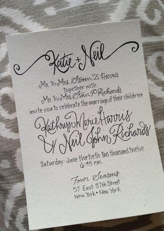 Pin by Sol Stan on Like Pinterest Weddings - best of wedding invitation design fonts