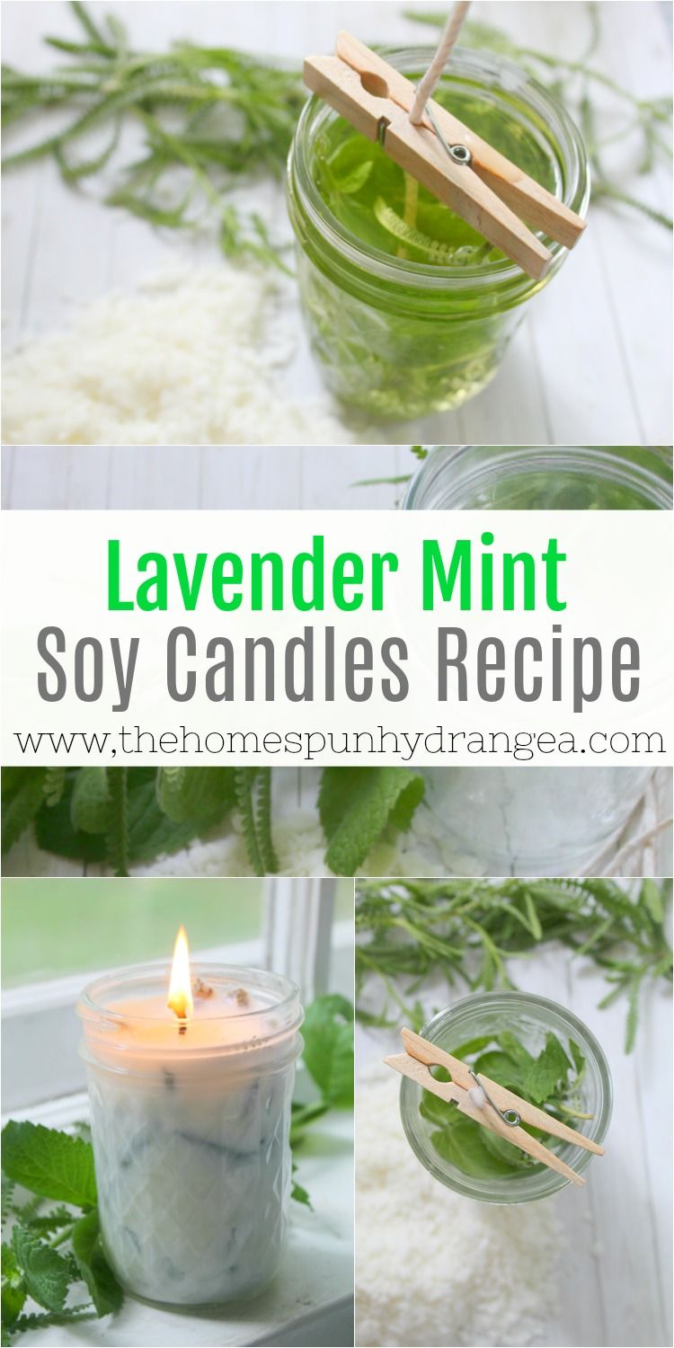Homemade Lavender and Mint Soy Candle Recipe Soy candles