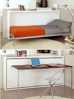 How good would these wall beds be for a small kids room or guests! Poppi 90 (with desk)